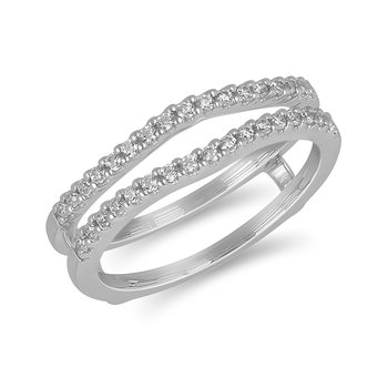 14K WG and diamond Engagement ring Insert in Prong setting