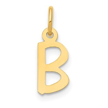 14k Small Slanted Block Letter B Initial Charm