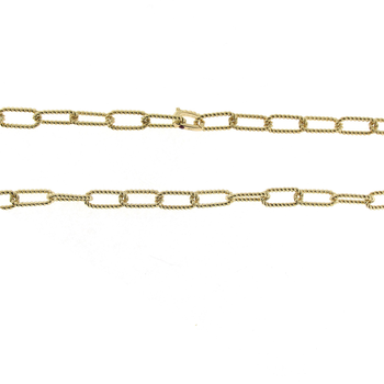 18Kt New Barocco Link Chain