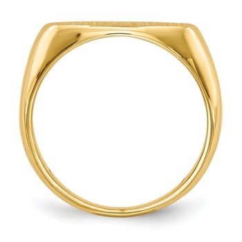 14k 9.5x17.5mm Closed Back Men's Signet Ring