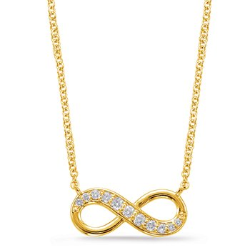 Yellow Gold Infinity Sign Necklace