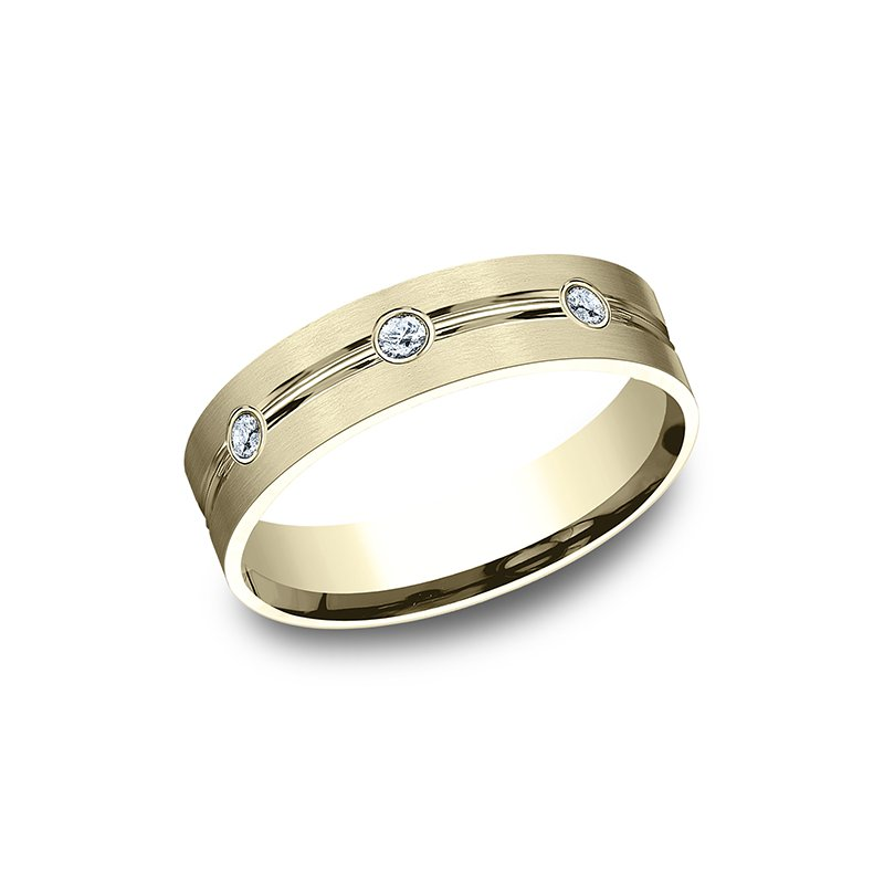 Benchmark Wedding Bands Comfort-Fit Diamond Wedding Ring