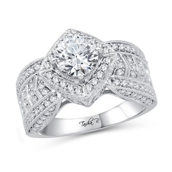 14K 0.89Ct Diam Semi Mount Ring