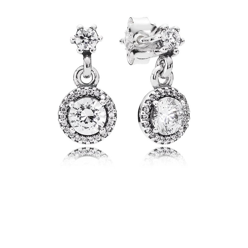 11a056bd8 David Arlen Jewelers: PANDORA Classic Elegance Drop Earrings, Clear CZ