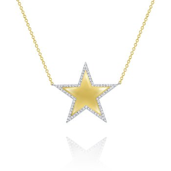 14K Gold and Diamond Superstar Necklace