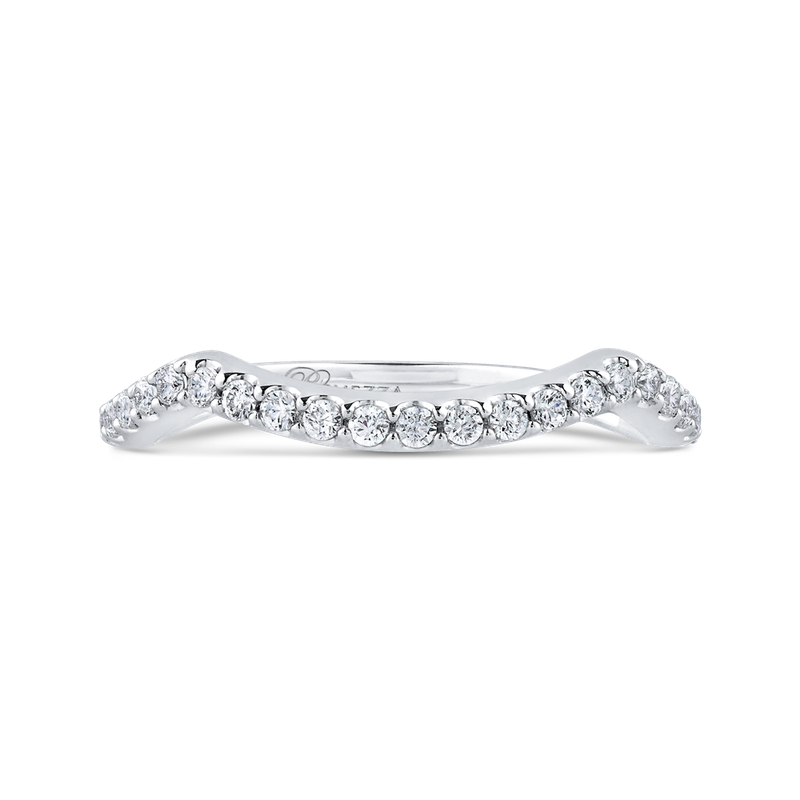 Promezza Round Diamond Wedding Band In 14K White Gold