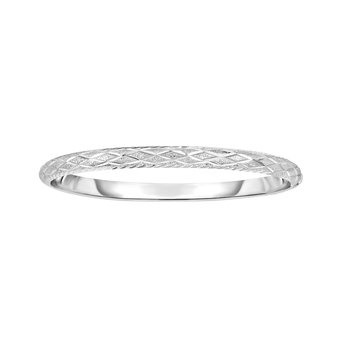 Silver X Design 5mm Bangle