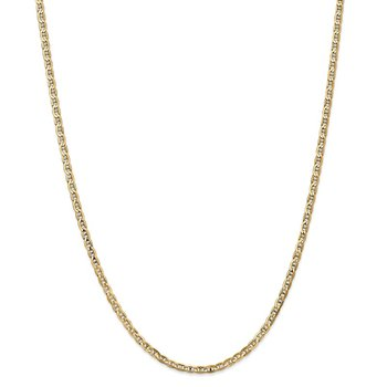 Leslie's 14k 3mm Concave Anchor Chain