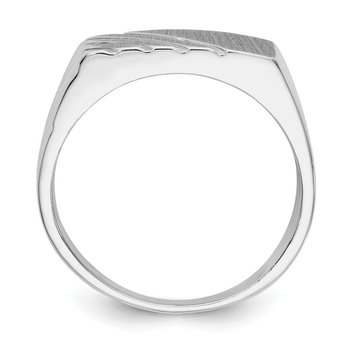 14kw 7.5mm x 16.3mm Open Back Men's Signet Ring
