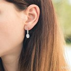 ASHI oval shape lovebright diamond earrings