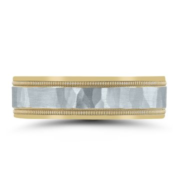 Colors Collection Two-tone Wedding Band NT01083