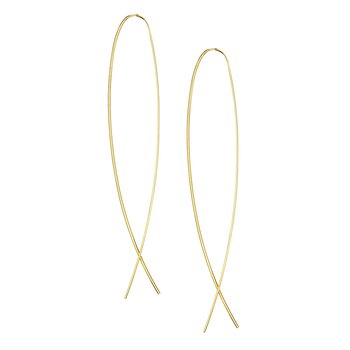 Narrow Flat Upside Down Hoops