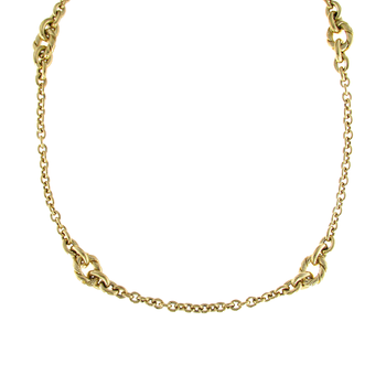 18Kt Yellow Gold Long Rope Necklace