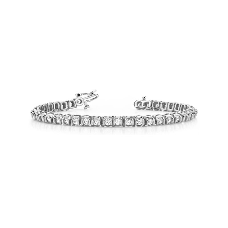 S. Kashi  & Sons Tube Setting Tennis Bracelet