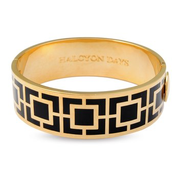 Black Maya Hinged Bangle