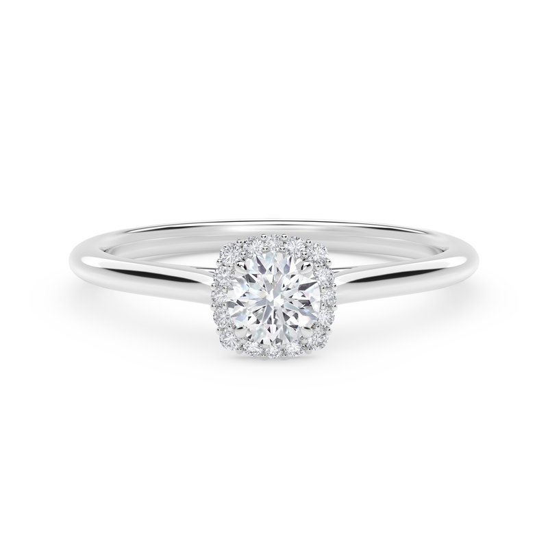 Forevermark Engagement and Commitment Center of My Universe® Round with Cushion Halo Engagement Ring