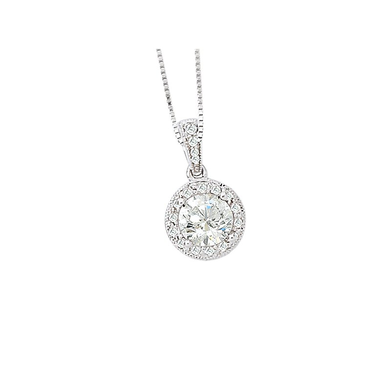 Tesoro Halo Diamond Pendant