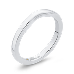 Promezza 14K White Gold Plain Wedding Band