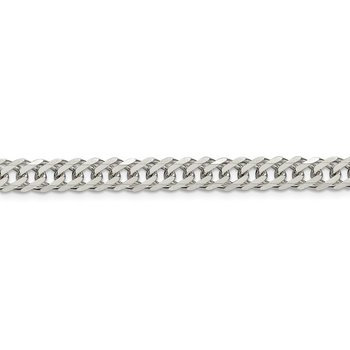 Sterling Silver 6.25mm 6 Side D/C Flat Double Curb Chain