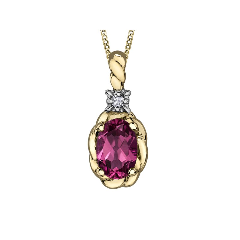 Diamond Days Pink Topaz Pendant