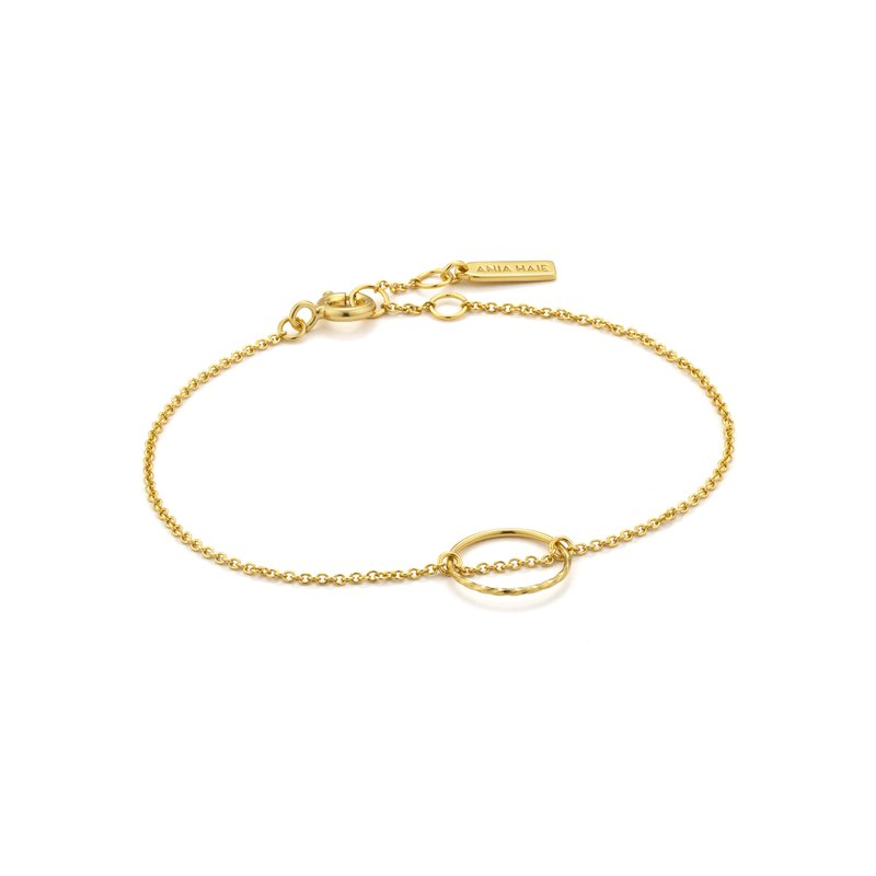 Ania Haie Twist Chain Circle Bracelet