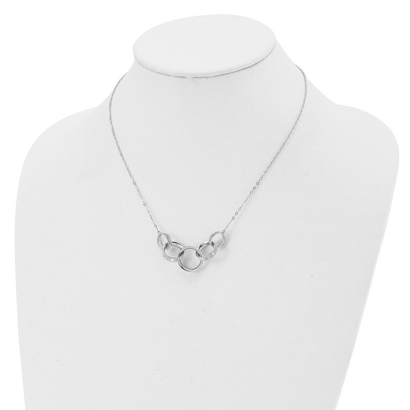 Leslie's Leslie's 14K White Gold Glimmer Infused Necklace