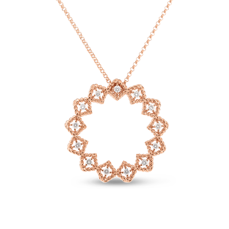 Roberto Coin  #19374 Of Large Diamond Circle Necklace