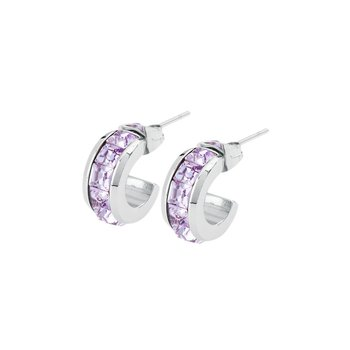 316L stainless steel and violet Swarovski® Elements crystals.