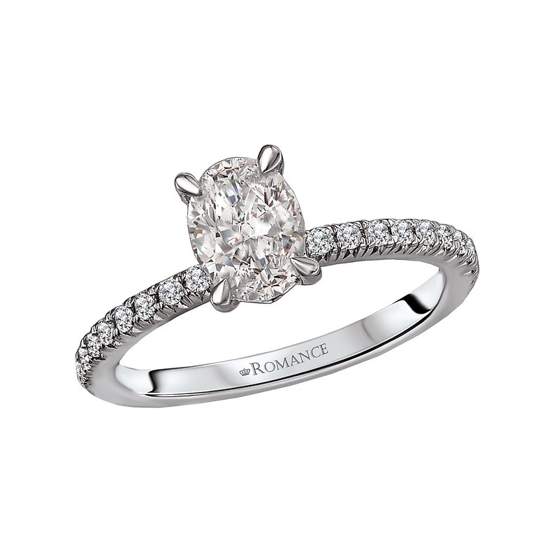 Romance Peg Head Semi-Mount Diamond Ring