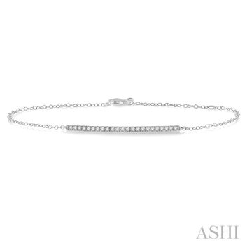 bar diamond chain bracelet