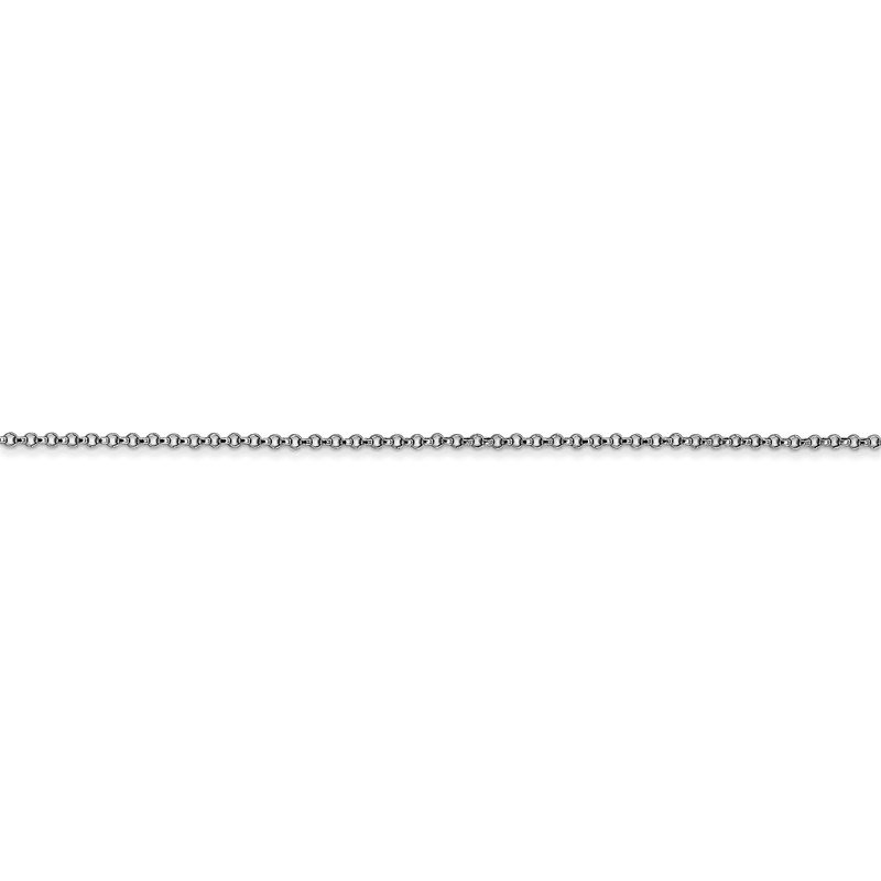 Quality Gold 14k White Gold 1.15mm Rolo Pendant Chain