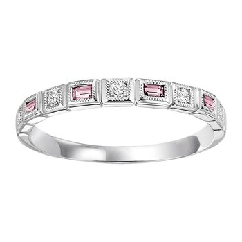 10K Pink Tourmaline & Diamond Ring