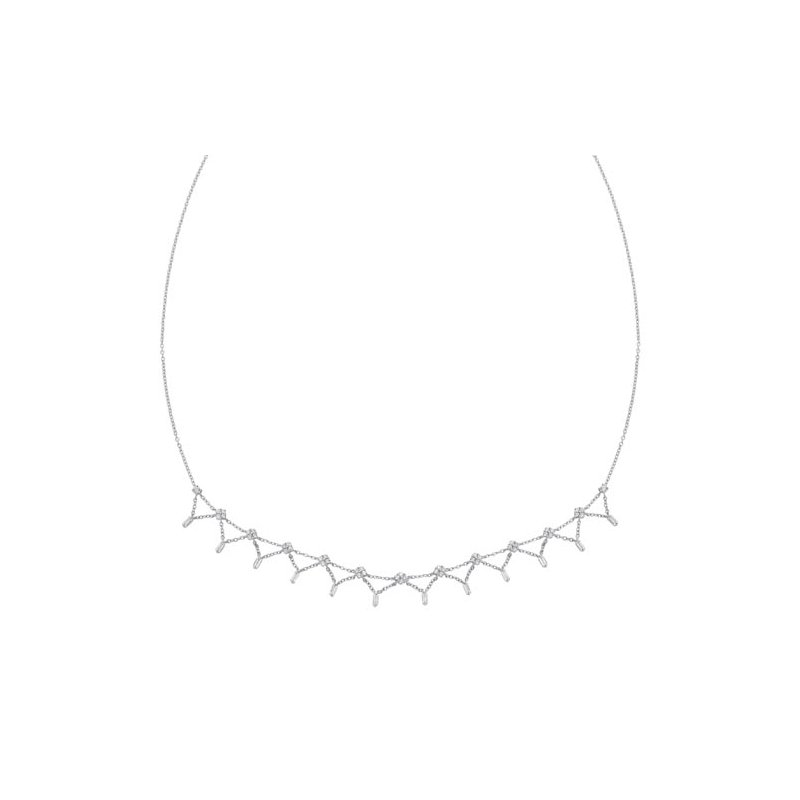 Gems One Diamond Station Necklace in 14k White Gold (1 ctw)