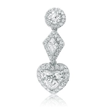 Three Tier Diamond Drop Earrings
