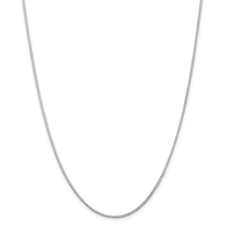 Quality Gold Sterling Silver 1.25mm Round Spiga Chain