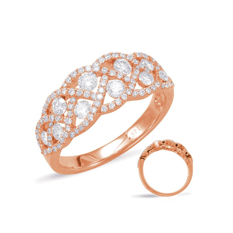 S. Kashi  & Sons Rose Gold Diamond Fashion Ring