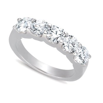 White Gold Diamond Five Stone