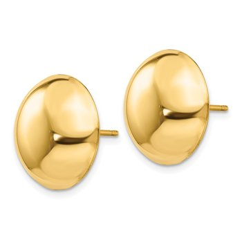 14k 15.50mm Button Post Earrings