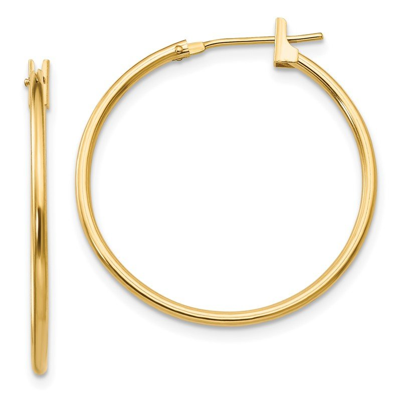JC Sipe Essentials 14k Madi K 1mm Hoop Earrings