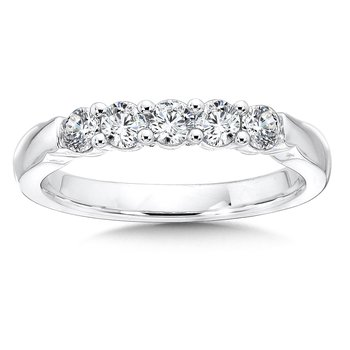 Prong set Round Diamond Wedding Band 14k White Gold (1.00ct. tw.)