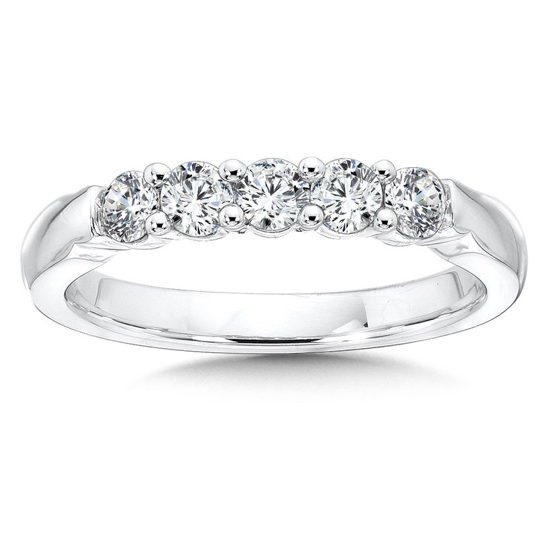 SDC Creations Prong set Round Diamond Wedding Band 14k White Gold (1.00ct. tw.)