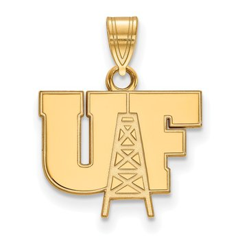 Gold-Plated Sterling Silver University of Findlay NCAA Pendant