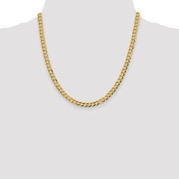 14k 5.9mm Lightweight Flat Cuban Chain
