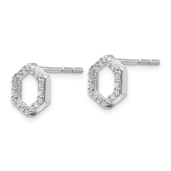 14kw True Origin Lab Grown Diamond VS/SI, D E F, Hexagon Earrings