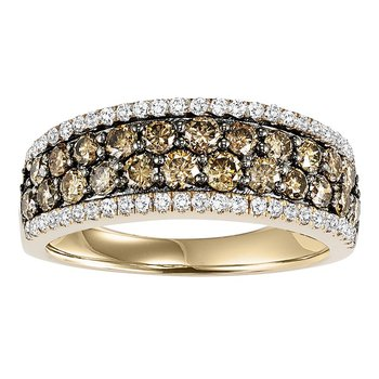 14K Brown & White Diamond Band 1 1/3 ctw