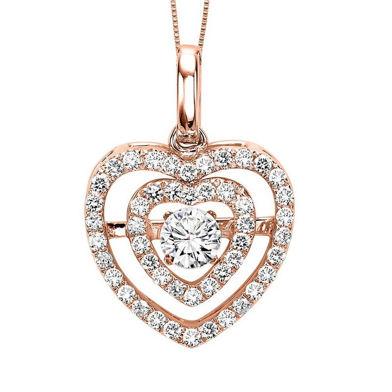Rhythm of Love 14KP Diamond Rhythm Of Love Pendant 3/8 ctw