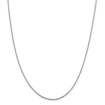 Sterling Silver 1.35mm Twisted Box Chain