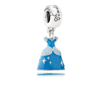Disney, Cinderella's Dress Dangle Charm, Mixed Enamel