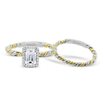 Simon G LR2796 WEDDING SET
