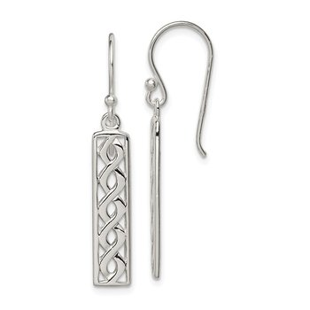 Sterling Silver Twisted Rope Dangle Earrings